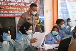 Kapolres Pasuruan Kunjungi Gerai Vaksin Di Wilayah Kabupaten Pasuruan