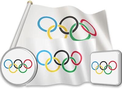 Olympic flag animated gif collection