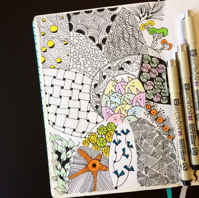 #100DaysOfDoodles | Day 20 | Zentangle Patterns | The 100 Day Project
