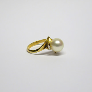 14K Gold & Pearl Ring