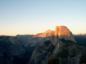 Half Dome from Glacier Point at last light