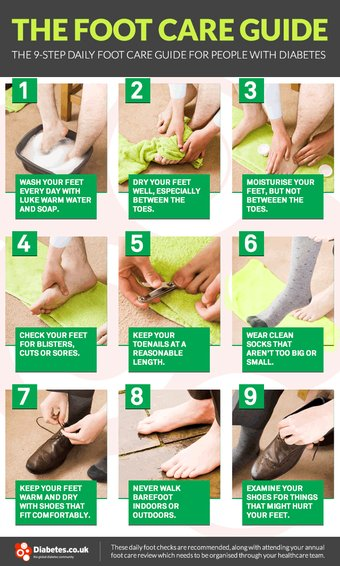 Foot care guide for people with diabetes