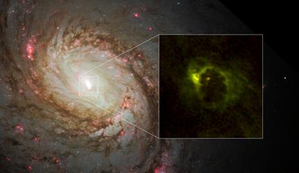 região central da galáxia espiral M77