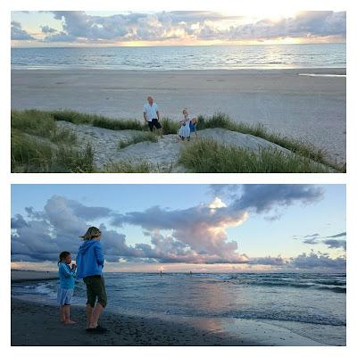 Solnedgång i Henne Strand