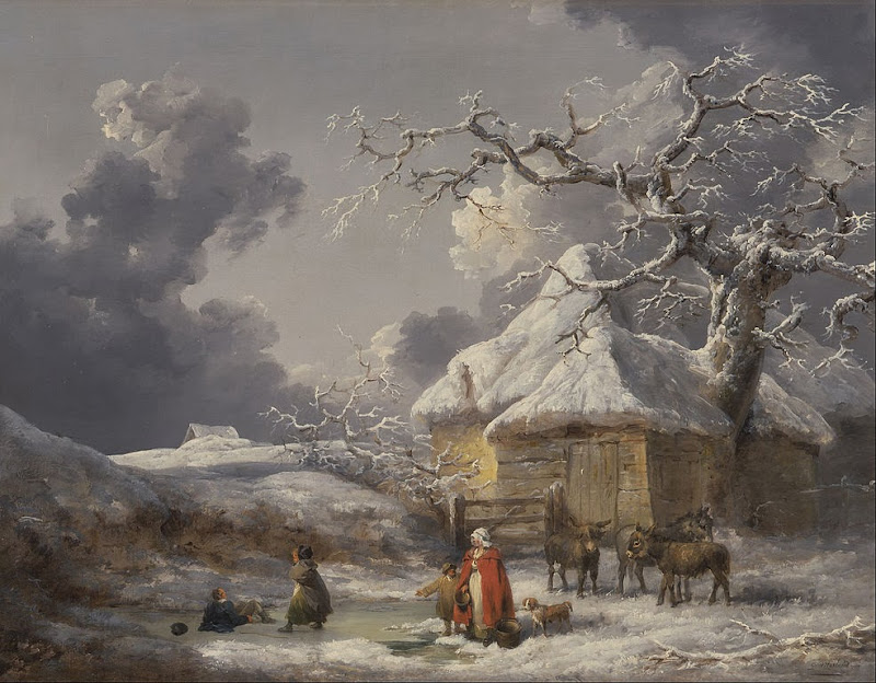 George Morland - Winter Landscape with Figures - Google Art Project