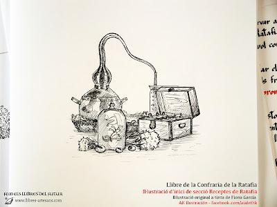 Il·lustració de Fiona García al Llibre de la Confraria de la Ratafia