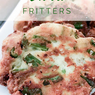 Okra Fritters {THM-S, Low Carb, Gluten Free}.