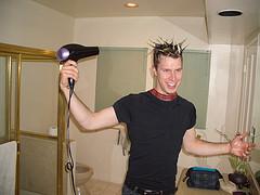 Twentysix Making His Crazy Hair Spikes, Twenty Six