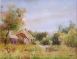 mój dom, olej, płótno, 40x50cm