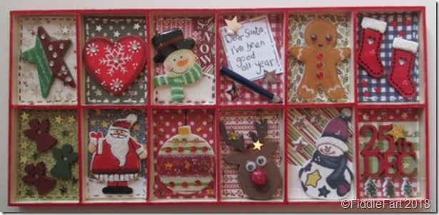 mini christmas printers tray decoration.