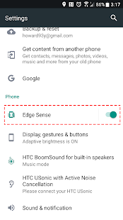 Edge Swipe - for HTC U11 - náhled