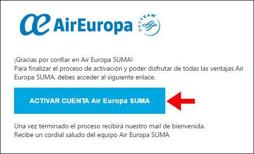 Abrir mi cuenta Air Europa - 710
