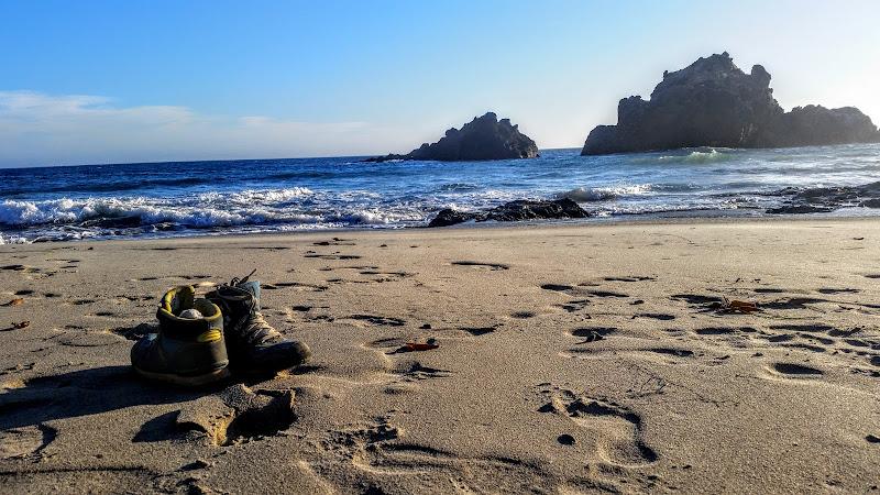 The sand is beneath my feet