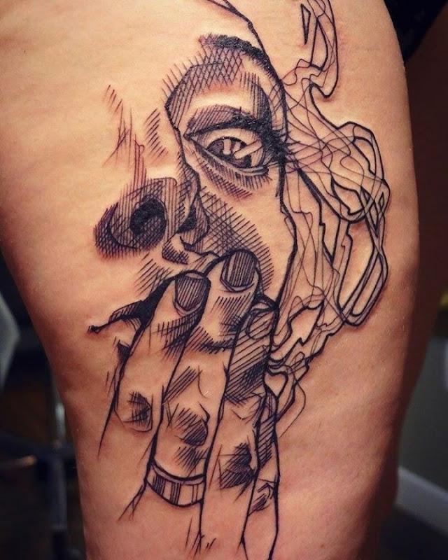 este_excelente_retrato_esboço_estilo_de_tatuagem