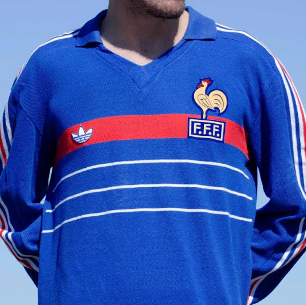 Baju bola retro, Jersey retro timnas Perancis, kaos bola timnas Perancis