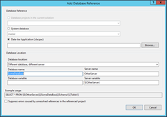 Screen Shoot of setting Database as a External Referenace
