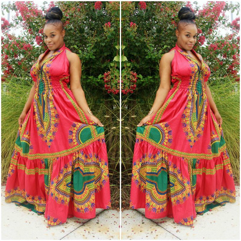 AFRICAN BRIDESMAID WOMAN DRESSES PATTERNS 3