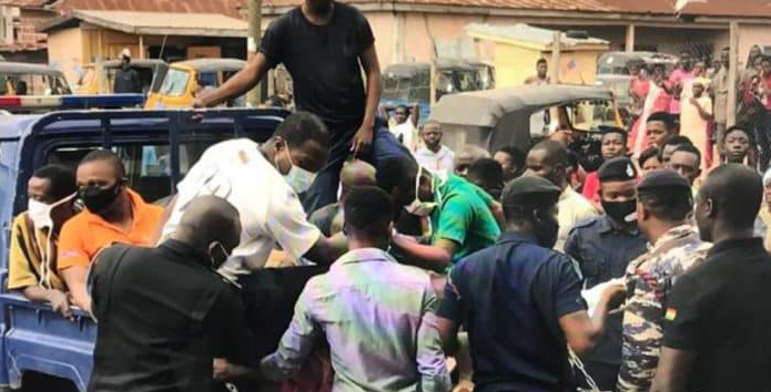 Six men arrested for inserting stick into anus of 16-year-old suspected thief