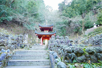 Otagi Nenbutsuji Temple features 1200 stone sculptures of rakan, the Buddha's disciples, all with different facial expressions and poses.