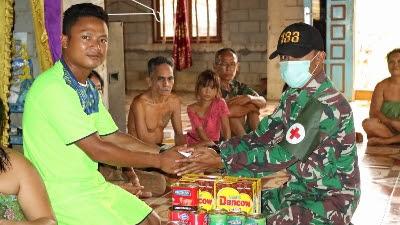 Bakti TNI di Wiltas, Satgas Yonif 133/YS Atasi Masalah Keluarga Bayi Gizi Buruk