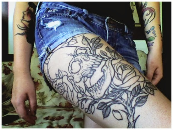 tattoo on thigh