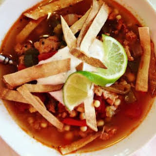 Mexican Chicken & Rice Soup.