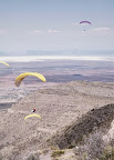 Gaggle of Paragliders over Box Canyon, Alamogordo (1 of 2)