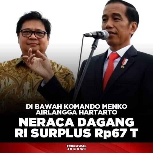 Neraca Dagang RI Surplus Rp 67 T
