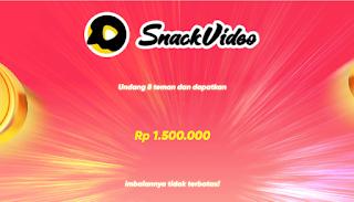 Cara Ikut Bonus Creator Snack Video Gampang Banget