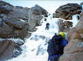 Steve C. leading Aladdins Mirror Direct. Coire an t-Sneachda. Cairngorms. Late 90's ?