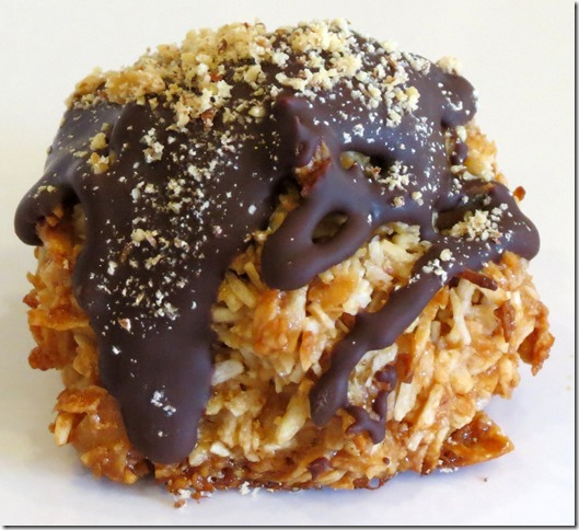 Chocolate Drizzled Toasted Almond Coconut Macaroons, Gluten Free, Paleo