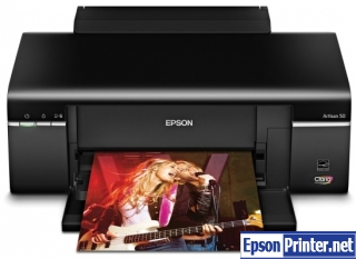 How to reset Epson Artisan 830 by software