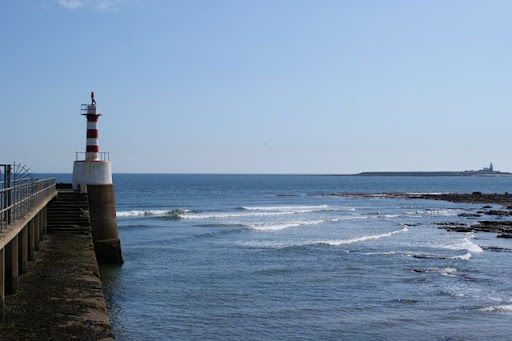 Amble Harbour and the Coquet Island, Northumberland