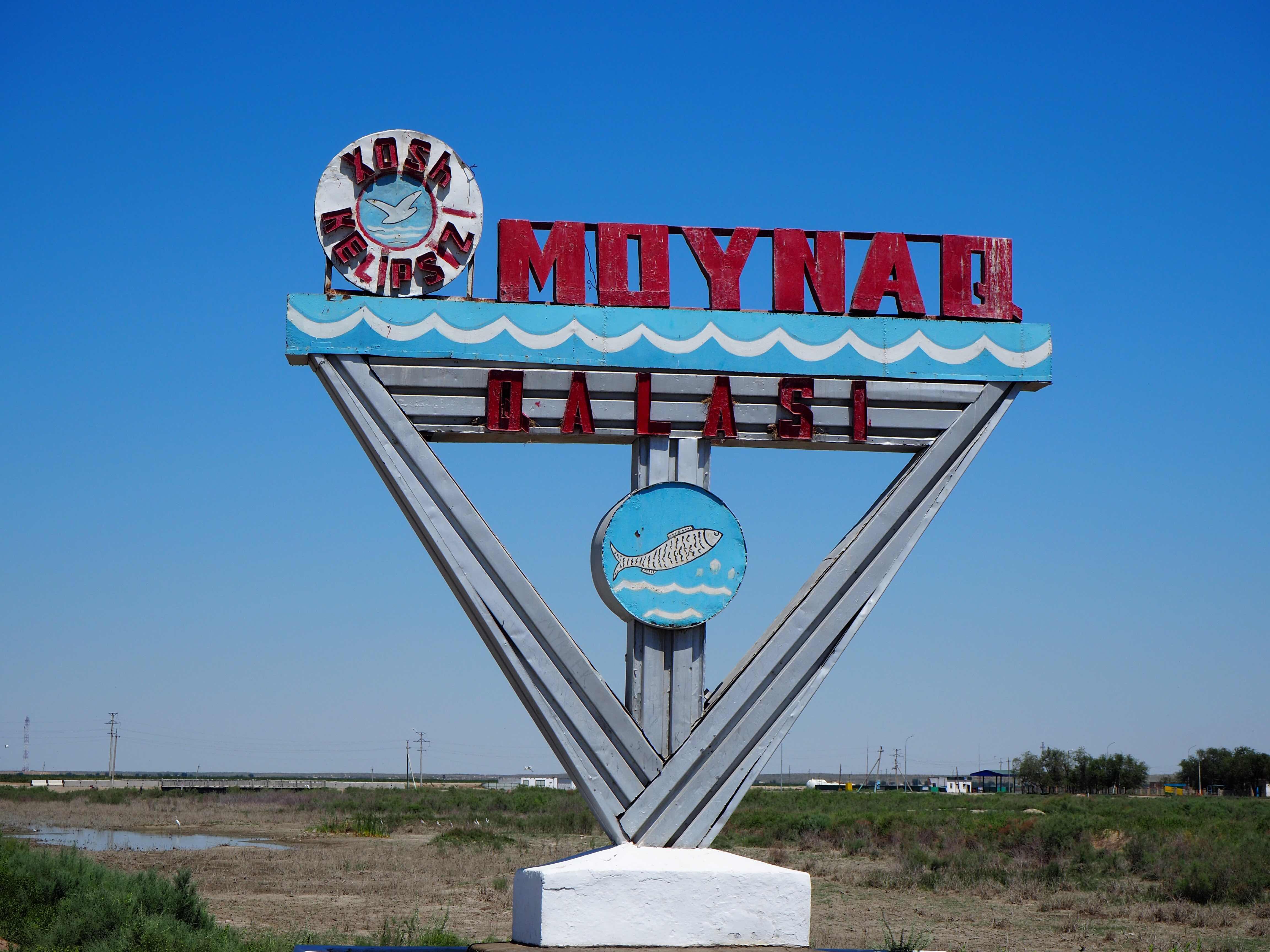 Mojnak kaupungin logossa on vielä kalan kuva.