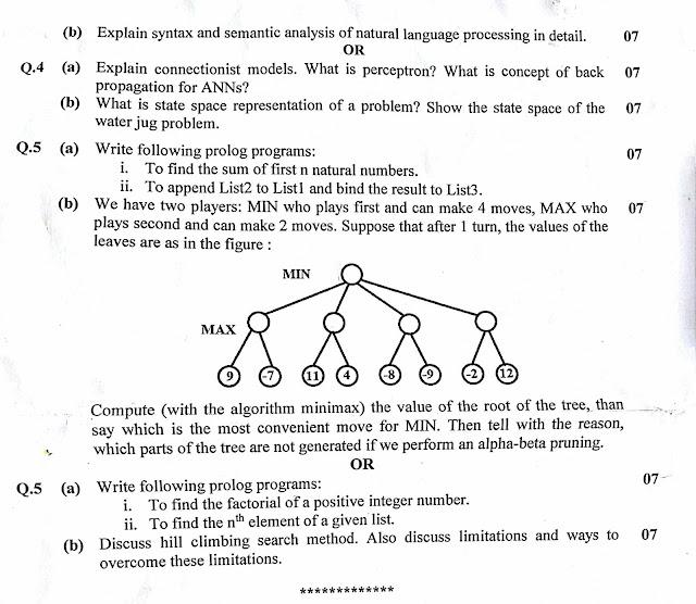 Gtu exam paper sem 8 : ( artificial intelligence'17 ) - Anicistan