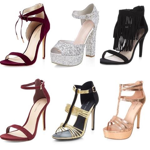80d37b9e1d6 Burgundy Tie Front Cut Out Heels   Silver Ankle Strap Platform Heels