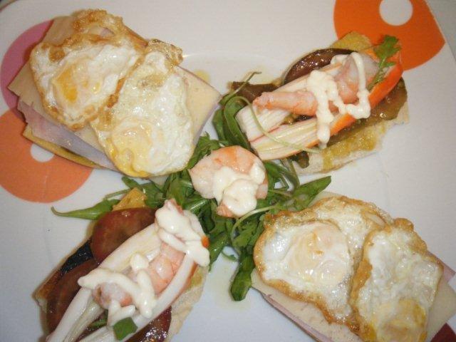 Fiesta de tostas variadas en Jamón de fiesta