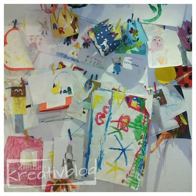 kleiner-kreativblog: Kleinkunst-Wand