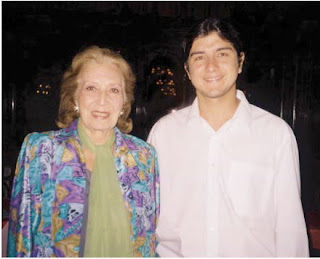 Ramiro Gallo con Nelly Omar en 1997
