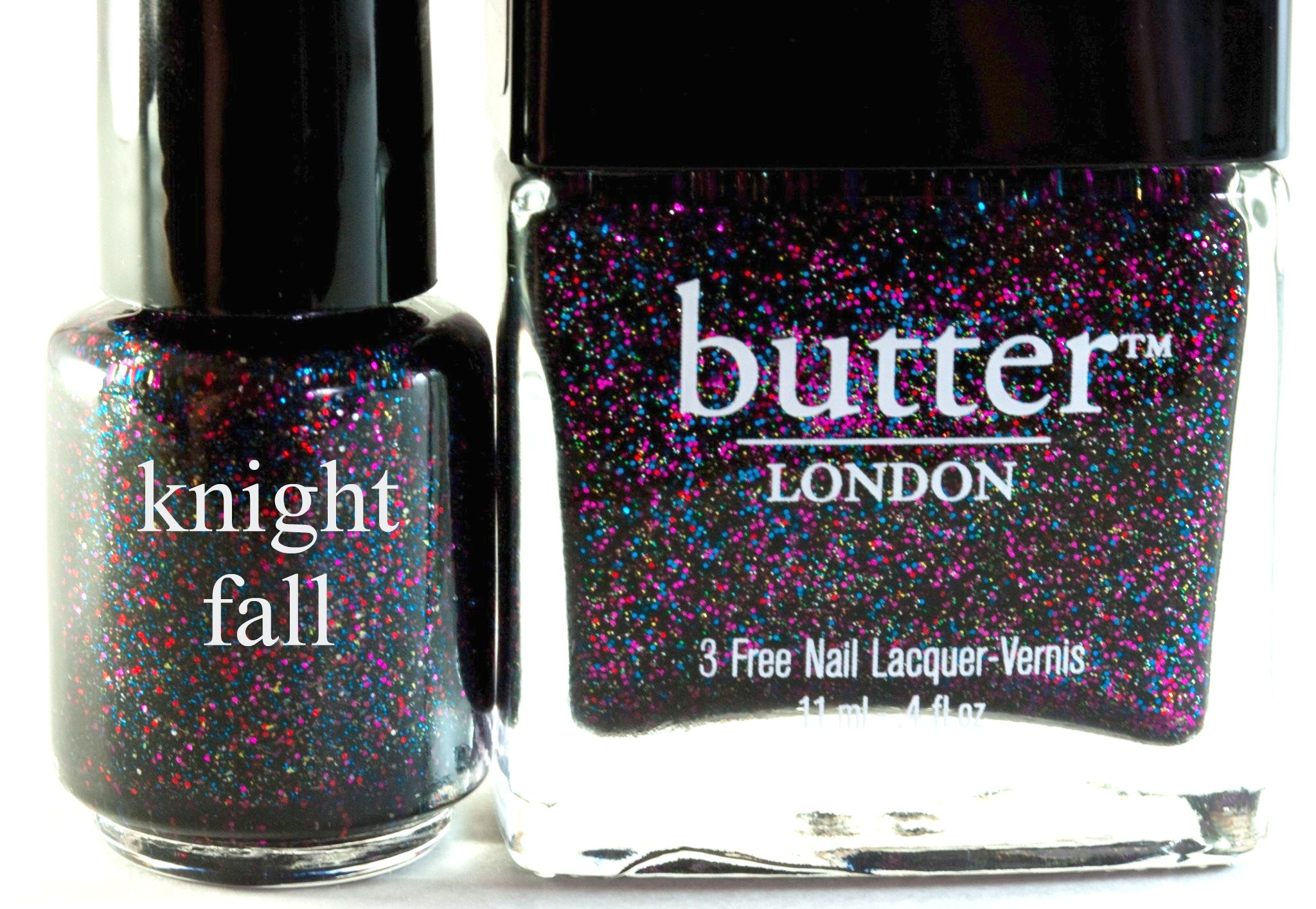 Knight Fall: Franken Dupe for Butter London's The Black Knight