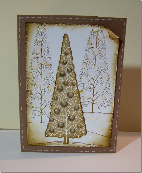 AW Vintage Tree Card