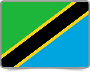 Tanzanian framed flag icons with box shadow