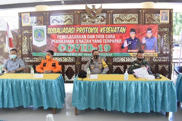 Forkopimda Bersama Kapolres Pasuruan Kota Sosialisasikan Pemulasaran Jenazah Covid-19