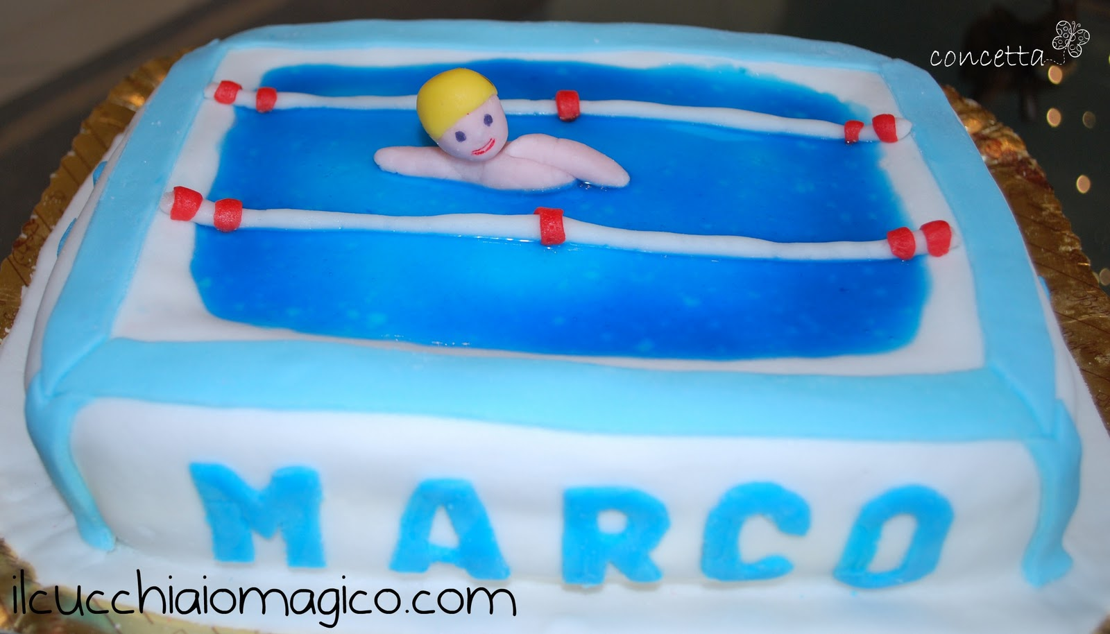 Il cucchiaio magico torta piscina - Piscina trezzano sul naviglio nuoto libero ...