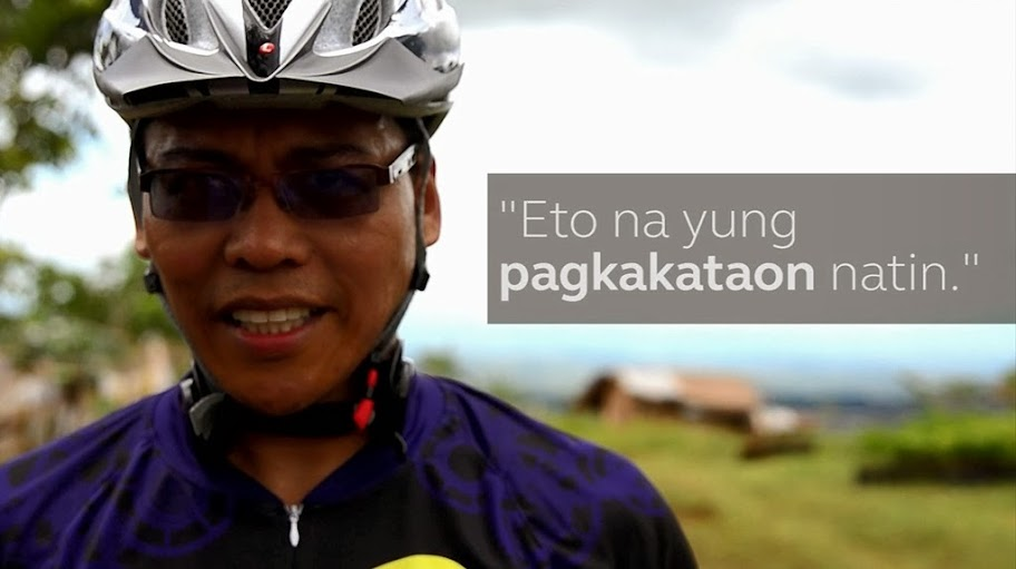 Eric Bergavera from Globe Davao at last year's Arakan XC