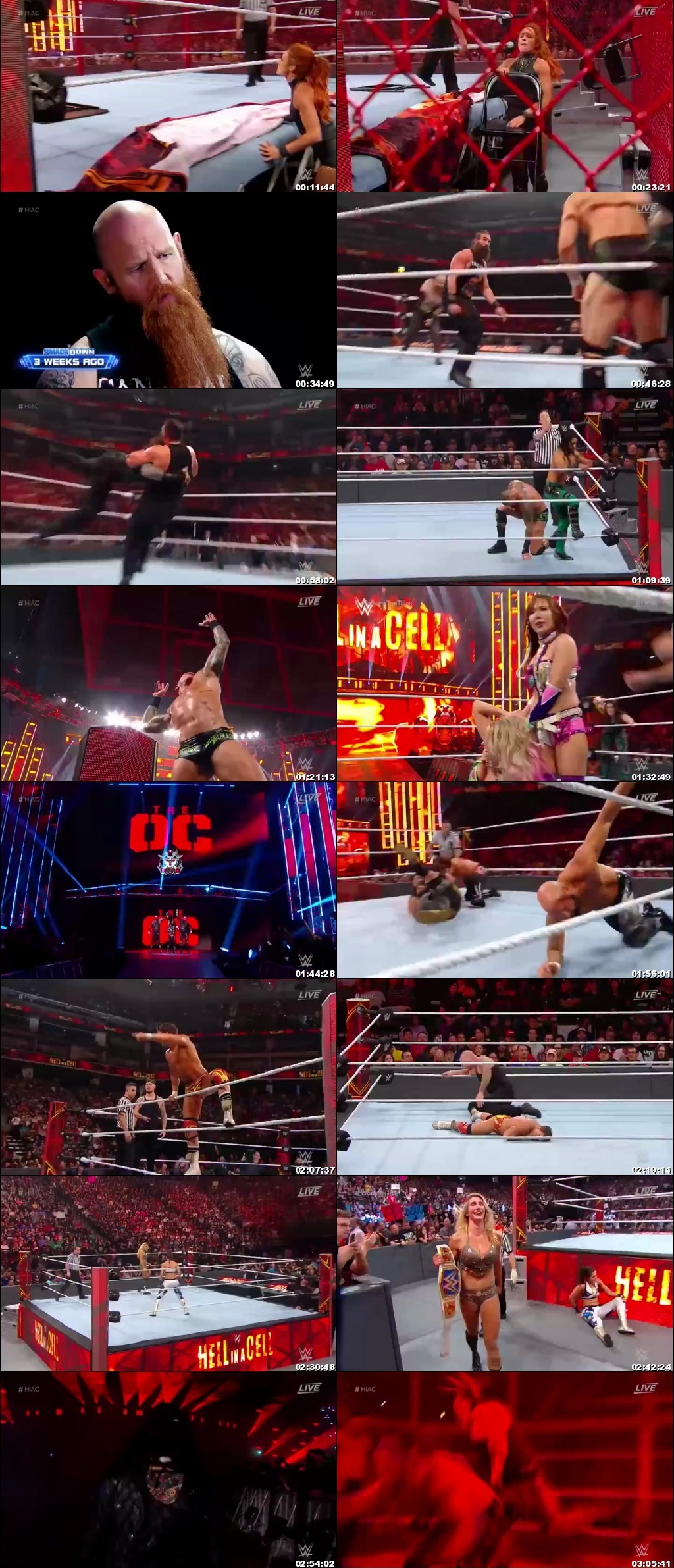 Screen Shot Of WWE Hell In A Cell 2nd October 2019 HDTV 480P 300MB