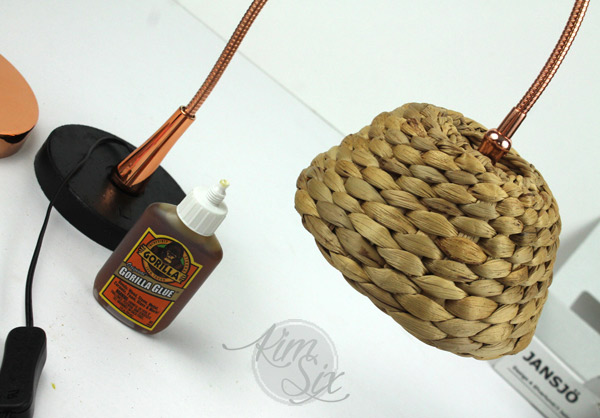 Gorilla glue basket lampshade
