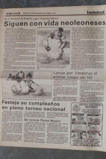 Notas del diario El Porvenir durante el campeonato nacional menor 1986