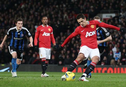 Javier Hernandez, Manchester United - Stoke City