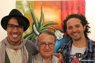 Photo: ARTERIA MZN 2015. De izda. a dcha.: Antonio de Almeida, Francana y Miguel Ángel Murillo
